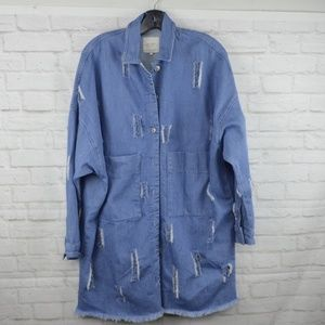 $10 Deal! Zara Over-sized distressed jacket
